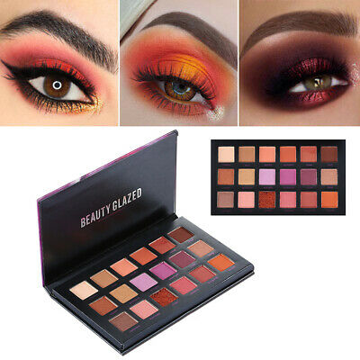 Beauty Glazed 18 Color Natural Highlight Eye Shadow Palette Matte Pearlescent E5