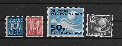 East-Germany/GDR/DDR: All stamps of 1949 in a year set complete, MNH