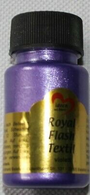 "50 ml Royal Flash Textil ""violett"", Glitzer-Metallic-Farbe, Jittenmeier"
