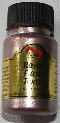 "50 ml Royal Flash Textil ""antik-rosa"", Glitzer-Metallic-Farbe, Jittenmeier"