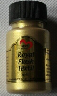 "50 ml Royal Flash Textil ""gold"", Glitzer-Metallic-Farbe, Jittenmeier"