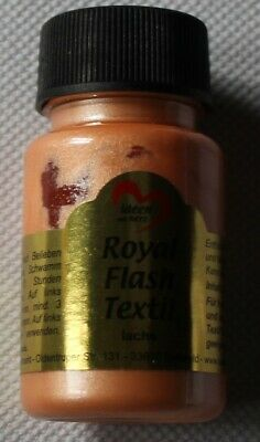 "50 ml Royal Flash Textil ""lachs"", Glitzer-Metallic-Farbe, Jittenmeier"