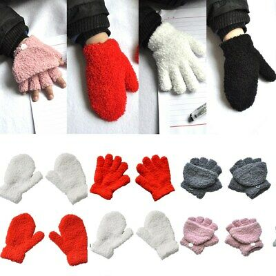 3 Style Girls Kids Boys Gloves Thermal Snow Soft Magic Warm Winter Gloves #GL