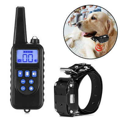 Dog Shock Collar Rechargeable Waterproof 300/800m Remote Training Electric Pets