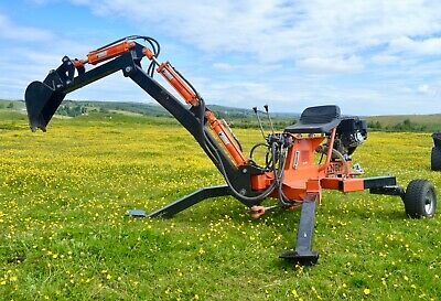 Backhoe mini excavator digger trencher by Rock Machinery