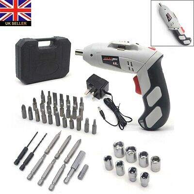 45 in 1 Power Rechargeable Battery Cordless Electric Screwdriver Drill Set UK