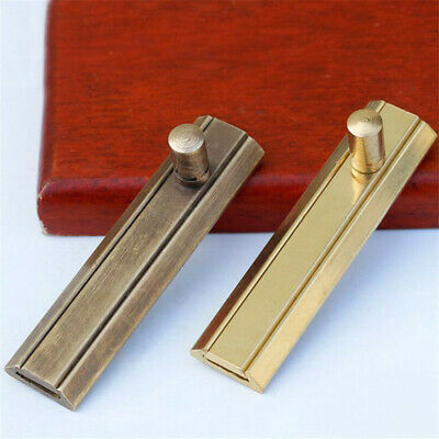 Flat Door Bolt Brass Surface Slide Barrel Sliding Metal Window Latch Antique