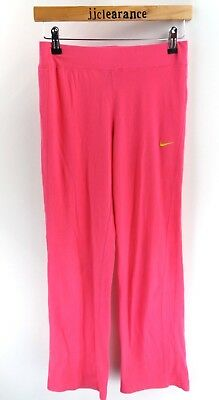 NIKE Girls Tracksuit Bottoms Joggers L Large 12-13 Years W28 L32 Pink Cotton