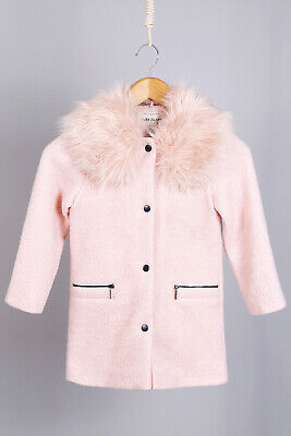 River Island NEW Kids Girls Faux Fur Coat Winter Jacket in Pink