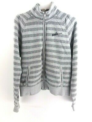 NIKE Girls Tracksuit Top Track Jacket 13-15 Years XL Grey Cotton Polyester