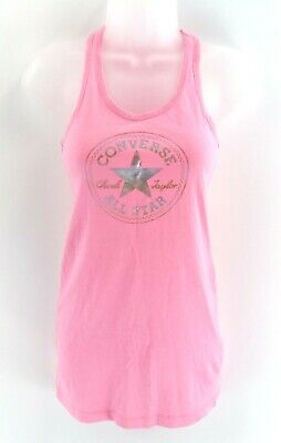 CONVERSE Girls Vest Top 10-12 Years Pink Cotton