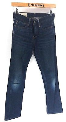 ABERCROMBIE & FITCH Boys Jeans 12 Years W24 L28 Blue Cotton Zipper Fly