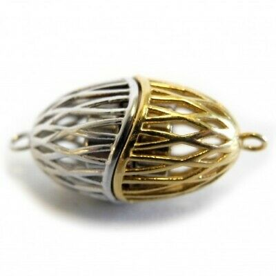 Magnetic 925 Oval Elegant Clasp Silver & Gold Plated Strong - FC4500