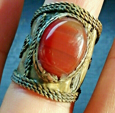 Extremely Ancient Medieval Vintage RING AMAZING With Old wonderful Agate