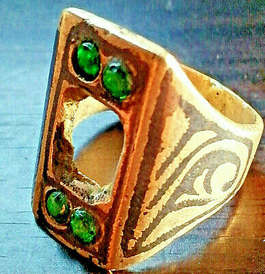Extremely Ancient Medieval Vintage Silver RING AMAZING With Stones