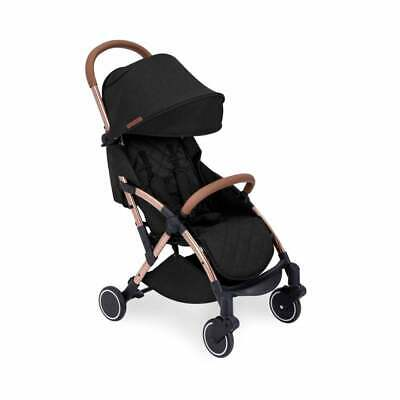 Ickle Bubba Globe Pushchair - Black On Rose Gold