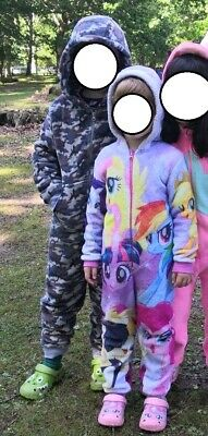 Girls  Hooded Fleece All In One Age 6 Years