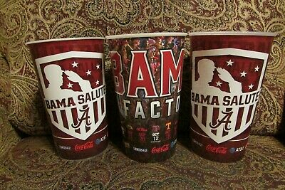 3 LSU vs Alabama Football Stadium Cups from Bryant Denny cups served at the game