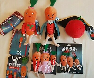 Aldi Official Kevin The Carrot Katie Chantenay Jasper Baby Pencil Case NoteBook