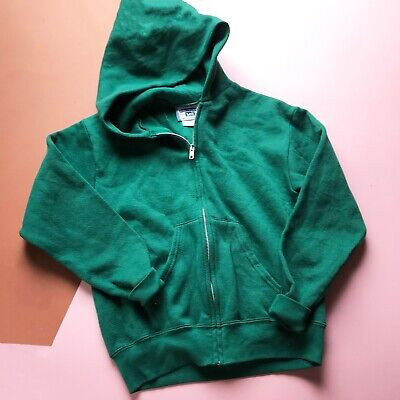 Vintage Kids Lee Racing Green Grunge 90s Casual Hoodie 8-10 Y