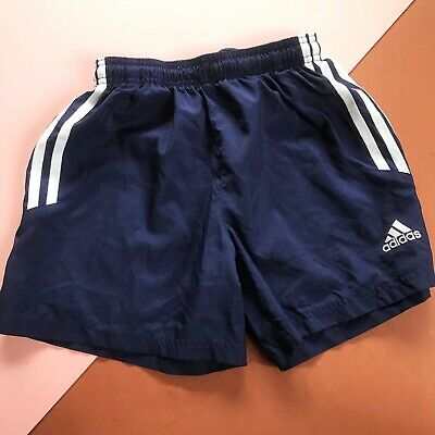Retro Kids Adidas Navy White Climalite Sports Short 8 Y