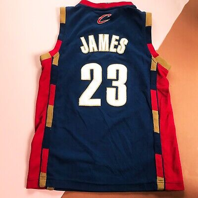 Retro Kids Cleveland Cavaliers Basketball James 23 NBA Sports Jersey Top 10 Y