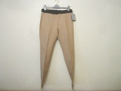 Tom Ford Cotton-Wool-Silk-Blend Men's Trousers With Contrasting Waistband