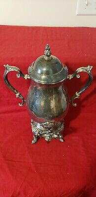 "Vintage FB Rogers Silver Co Plated Coffee Urn Samovar 15"" Tall"