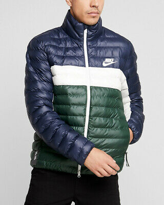 NIKE DOWN BUBBLE Padded jacket Men Green blue SYN FILL