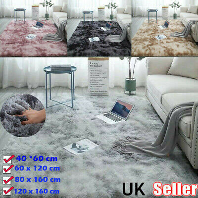 Fluffy Rugs Anti-Slip SHAGGY Rug Super Soft Carpet Mat Living Room Bedroom Floor