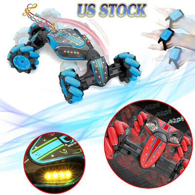 Gesture Sensor Stunt Car 2.4G 4WD RC Off Road Double-Sided Tw isting Gifts Q1K1