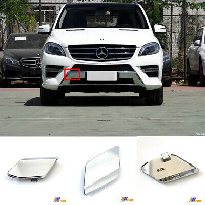 Front Lower Valance Compatible with 2012-2015 Mercedes Benz ML350 ML550 Chrome with AMG Styling Package