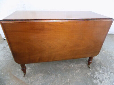 antique,victorian,mahogany,extending,drop leaf,dining table,table,castors