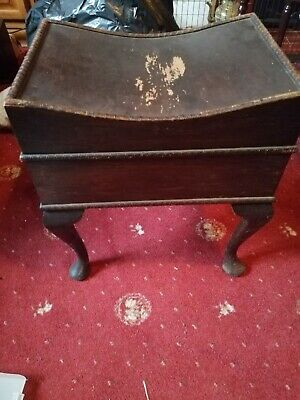Vintage Piano Stool With Storage Under Seat
