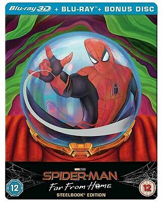 Spider-Man: Far from Home - Limited Edition Steelbook [3D - Blu-ray] New!