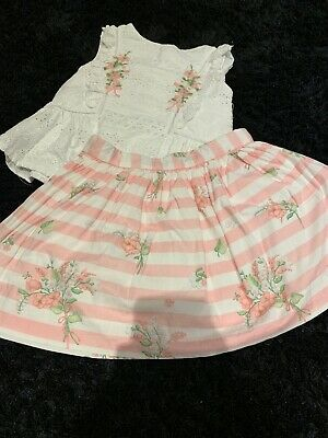 Girls Age 7 Mayoral 2 Piece Set Of Skirt And Top . Spanish. Summer
