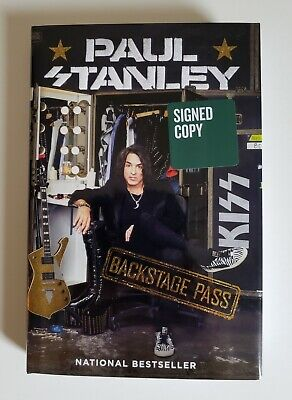 PAUL STANLEY Backstage Pass (KISS) Signed First Edition Hardcover Book 2019