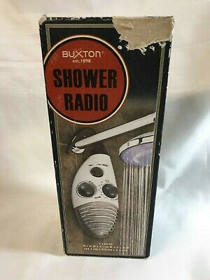 Buxton  Hanging Water Resistant AM/FM Shower Radio
