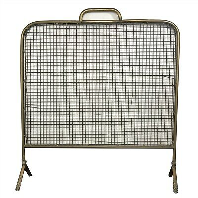 Large Vintage Brass Fireplace Screen / Cover
