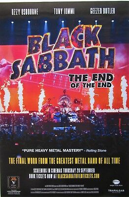 BLACK SABBATH `The End Of The End` large poster  / ozzy osbourne