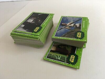 Topps Star Wars 2019 Journey To The Rise Of The Skywalker Green Lot of 85+ Cards