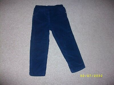 yGirl's Navy Pull On Trousers Age 3-4 Years from George