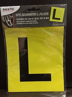 New - Magnetic L Plates - 2 Pk - Suitable For Vic, Qld & Wa
