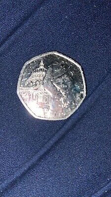 Rare* 2019 Uncirculated Paddington Bear At St Pauls Cathedral 50P Coin