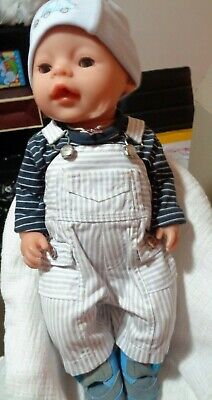 Baby Born Boy Doll By Zapf Creations, Dressed, Adorable