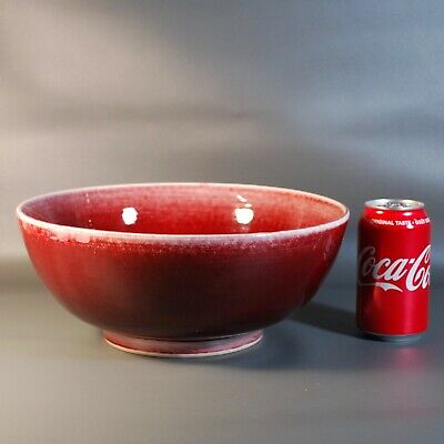 Chinese Antique Bowl Ox Blood Red Glaze.Very large,Long time collection