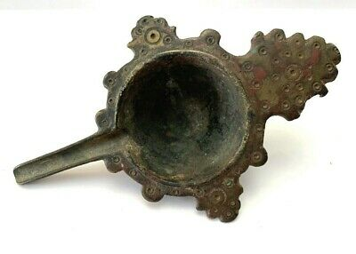Ancient Byzantine bronze oil lamp filler.