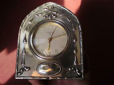 Rare 1979 Deakin & Francis Ltd Sterling Silver Looping Mechanical Alarm Clock
