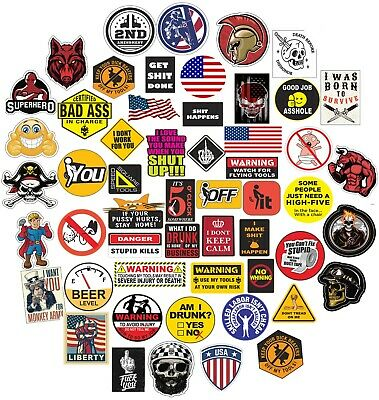 32 Hard Hat Sticker,Tool Box Stickers, Funny Decals For Construction workers etc
