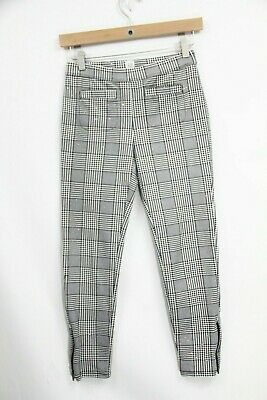 Gap Girls Houndstooth Leggings sz XL 12 Kids Skinny Leg Glitter Stretch black